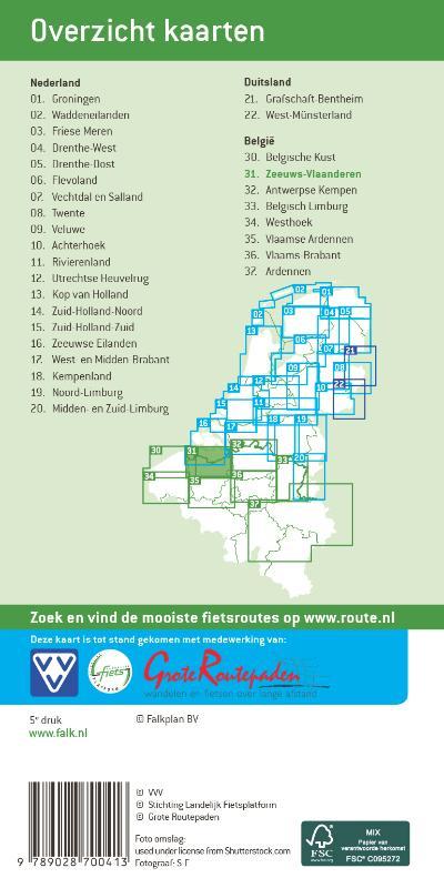 Falkplan fietskaart: Zeeuws-Vlaanderen