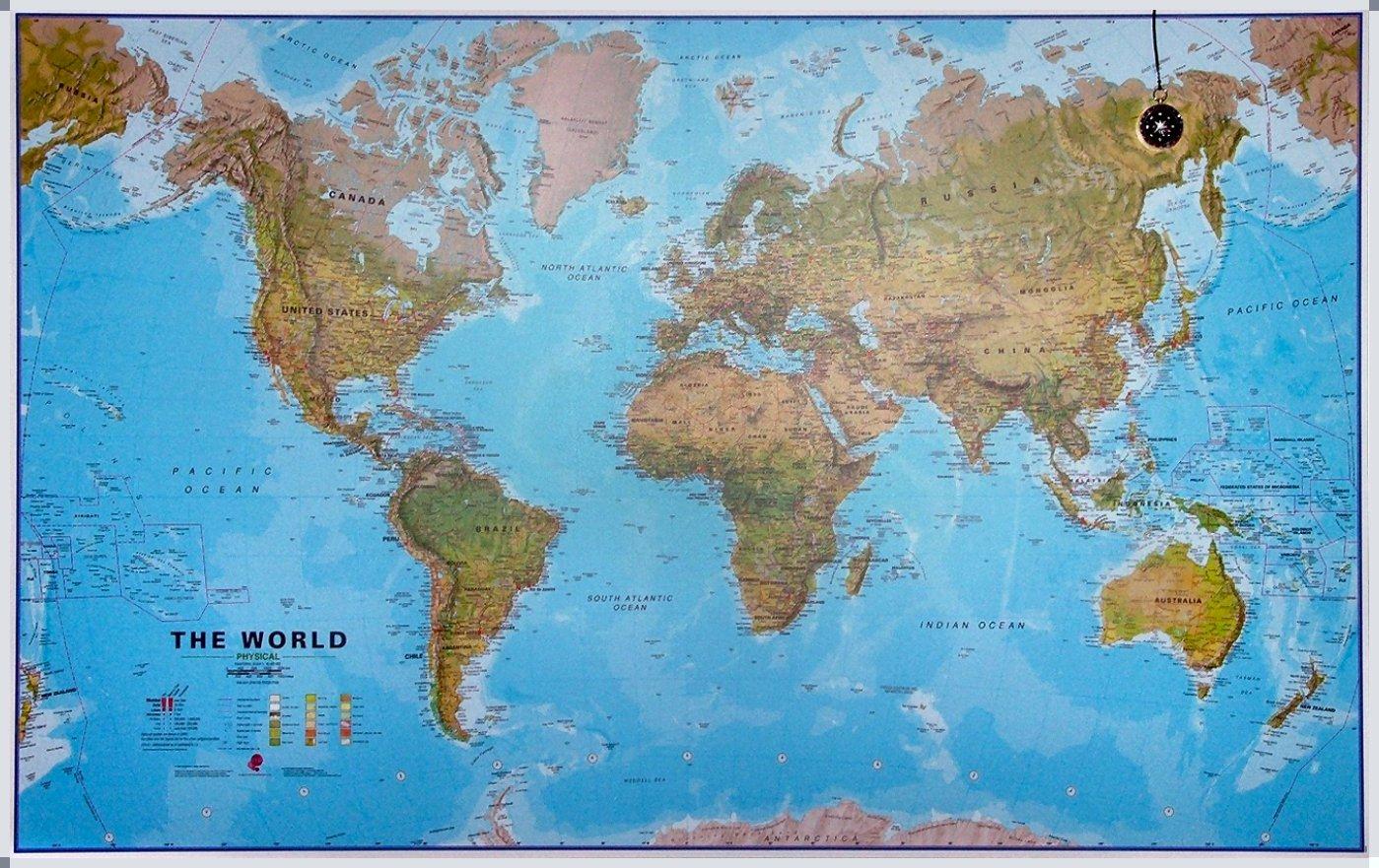 Maps International The World Environmental - Large - Magneetbord