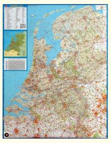 Wandkaart Nederland Falkplan ( 2017 )