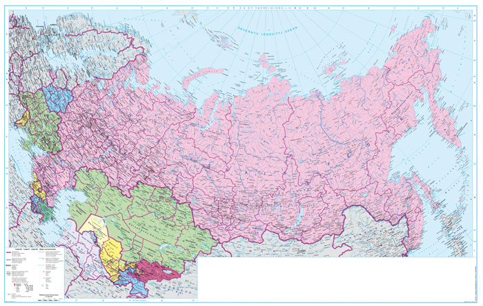 Europa Oost / GOS wandkaart