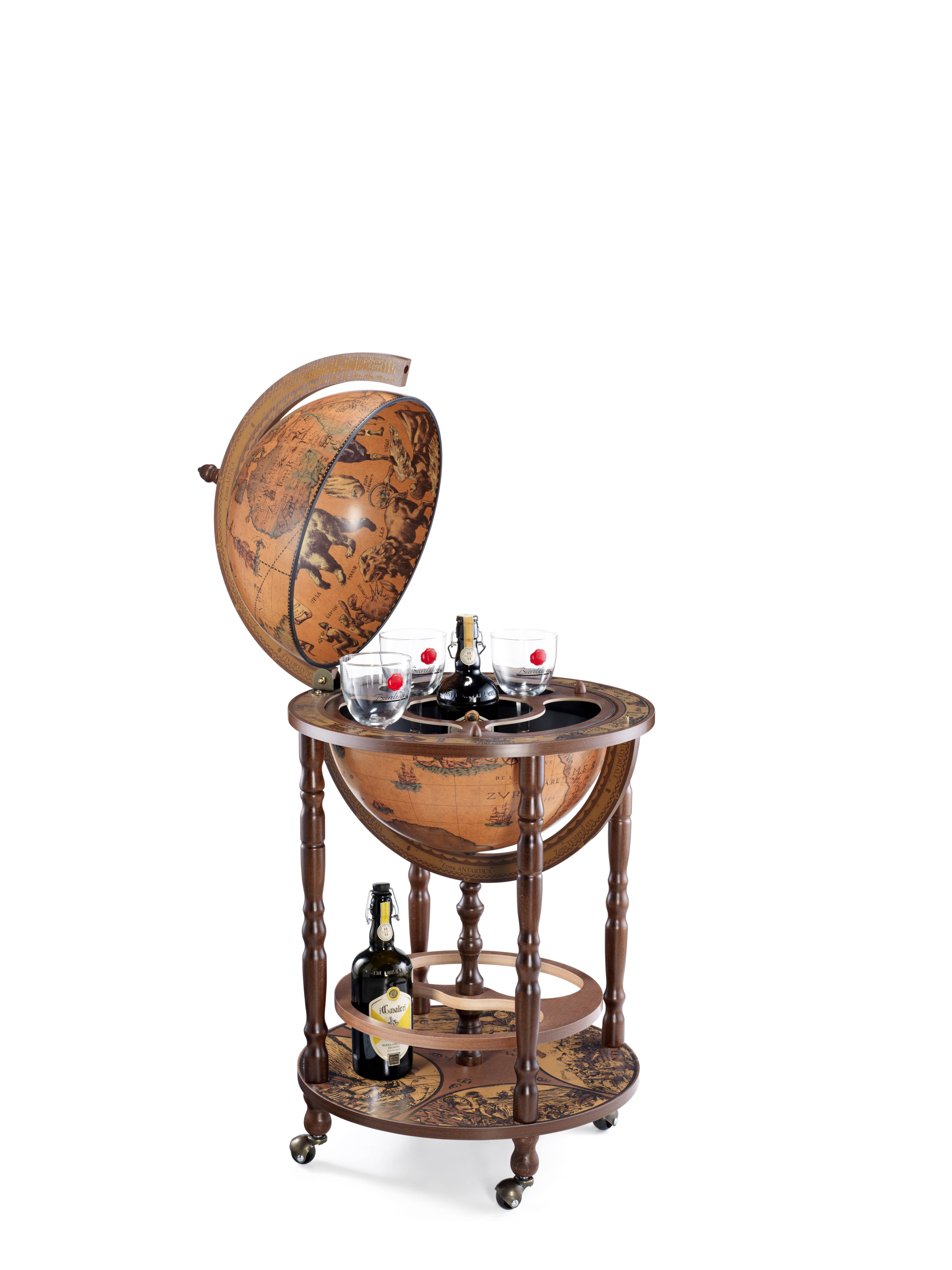 Minerva bar globe 40 Classic - 16e-eeuwse kaart