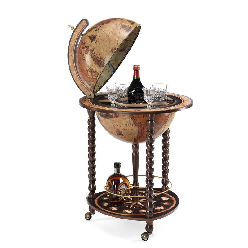 Explora bar globe 40 Honey Brown - 18e-eeuwse kaart, honingbruin