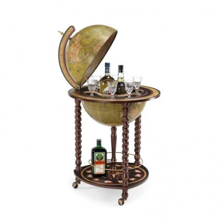 Explora bar globe 40 Olive Green - 18e-eeuwse kaart, olijfgroen