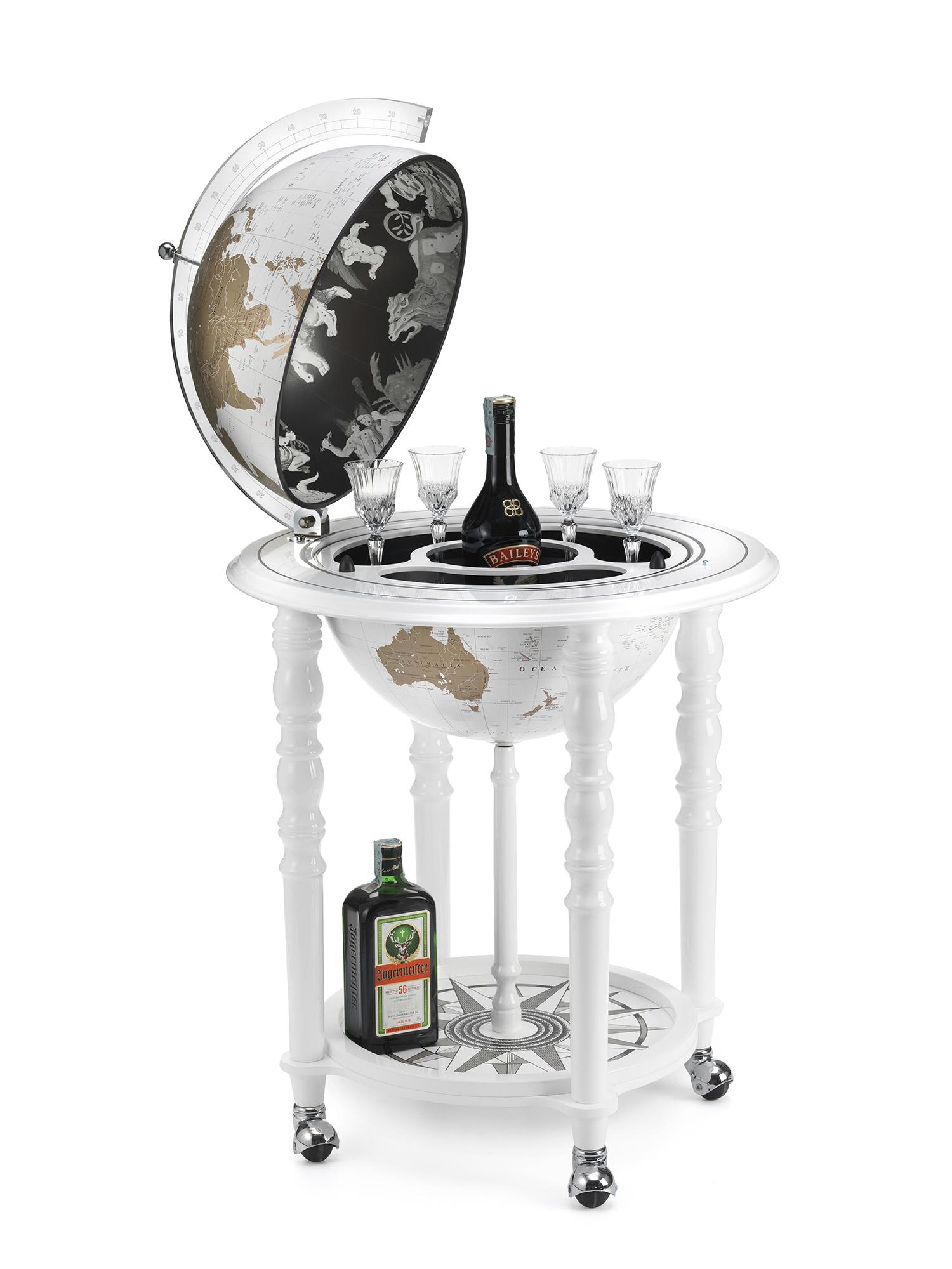 Elegance bar globe 40 White - Hedendaagse kaart