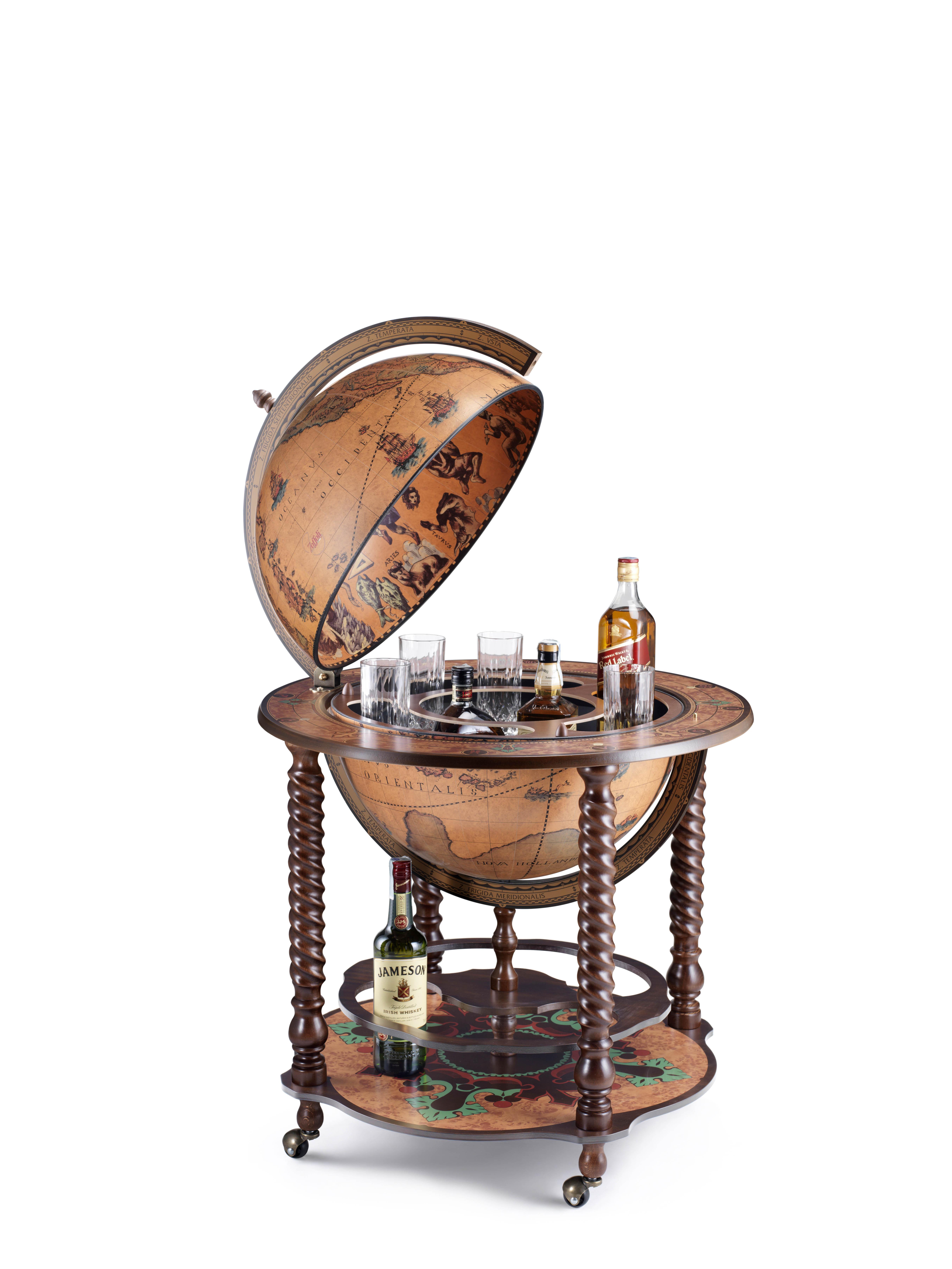 Bacco bar globe 50 Classic - 16e-eeuwse kaart