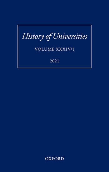 History of Universities XXXIV/1