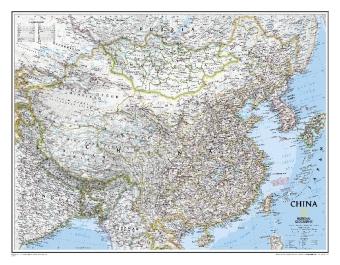 China wandkaart