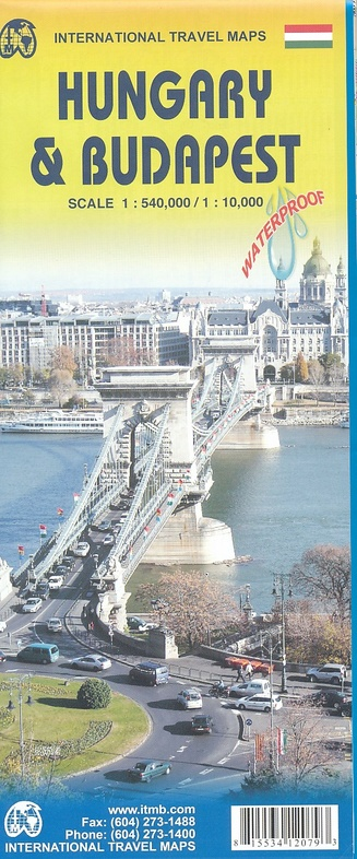Hungary & Budapest Travel Reference Map 1 : 540 000 / 1 : 10 000