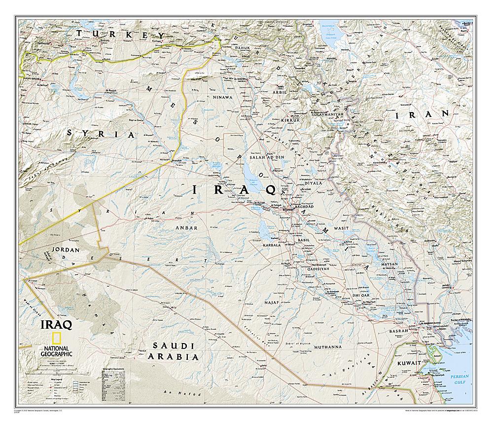 Irak wandkaart