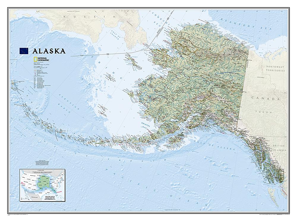 Alaska wandkaart