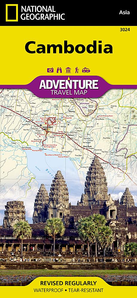 Touristische Karte Cambodia 1:525000