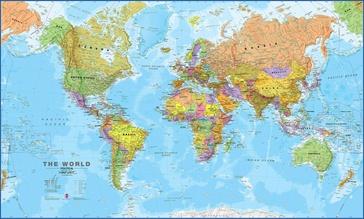 Maps International - The World Political - Medium