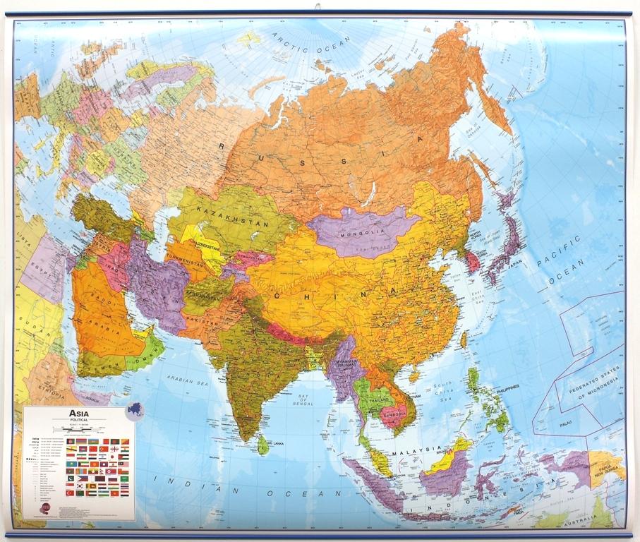 Asia politiek geplastificeerd met latjes