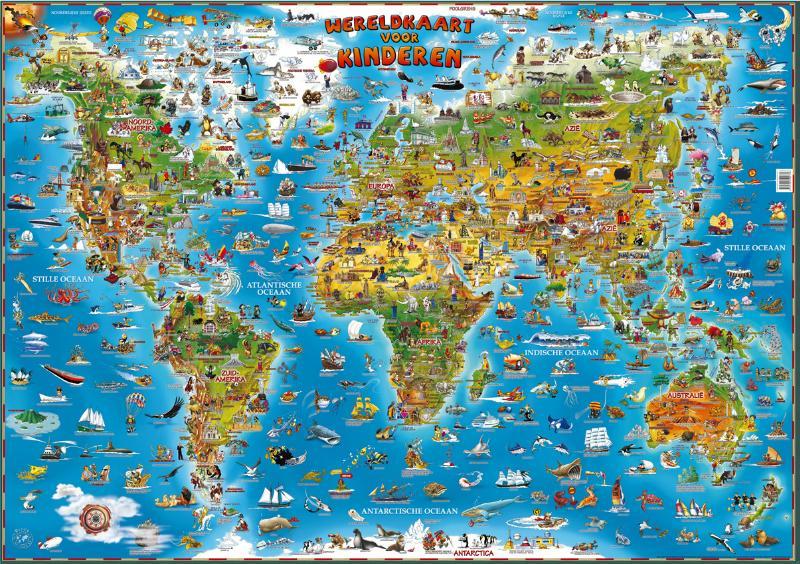 Dino Wereldkaart voor kinderen