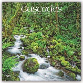 Cascades - Kaskaden/Wasserfälle 2020 - 18-Monatskalender