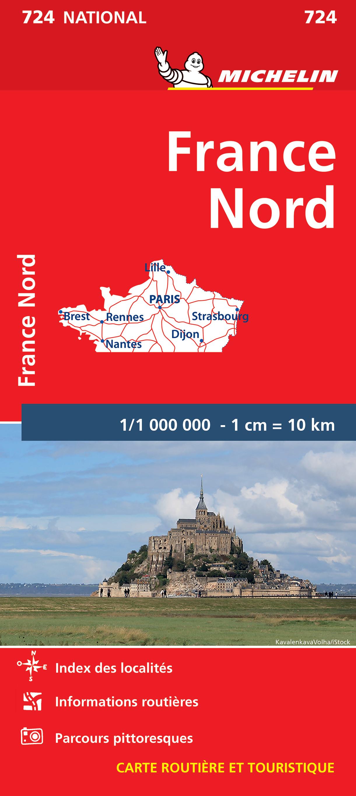 Michelin 724 Frankrijk-Noord