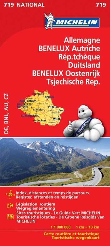 Michelin 719 Duits/Oost/Tsjech/BeNeLux