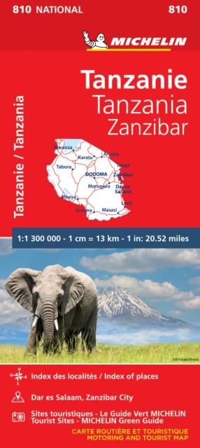 Tanzania & Zanzibar - Michelin National Map 810