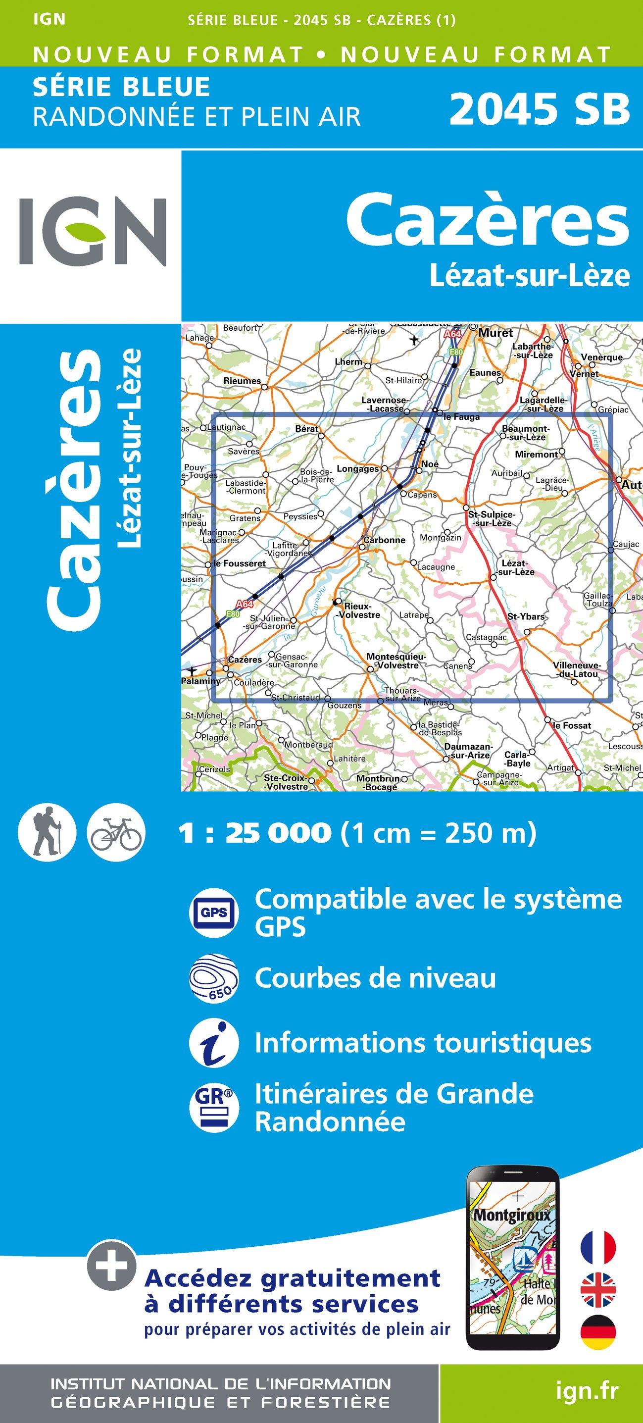 Cazères Lézat-sur-Léze 1:25 000