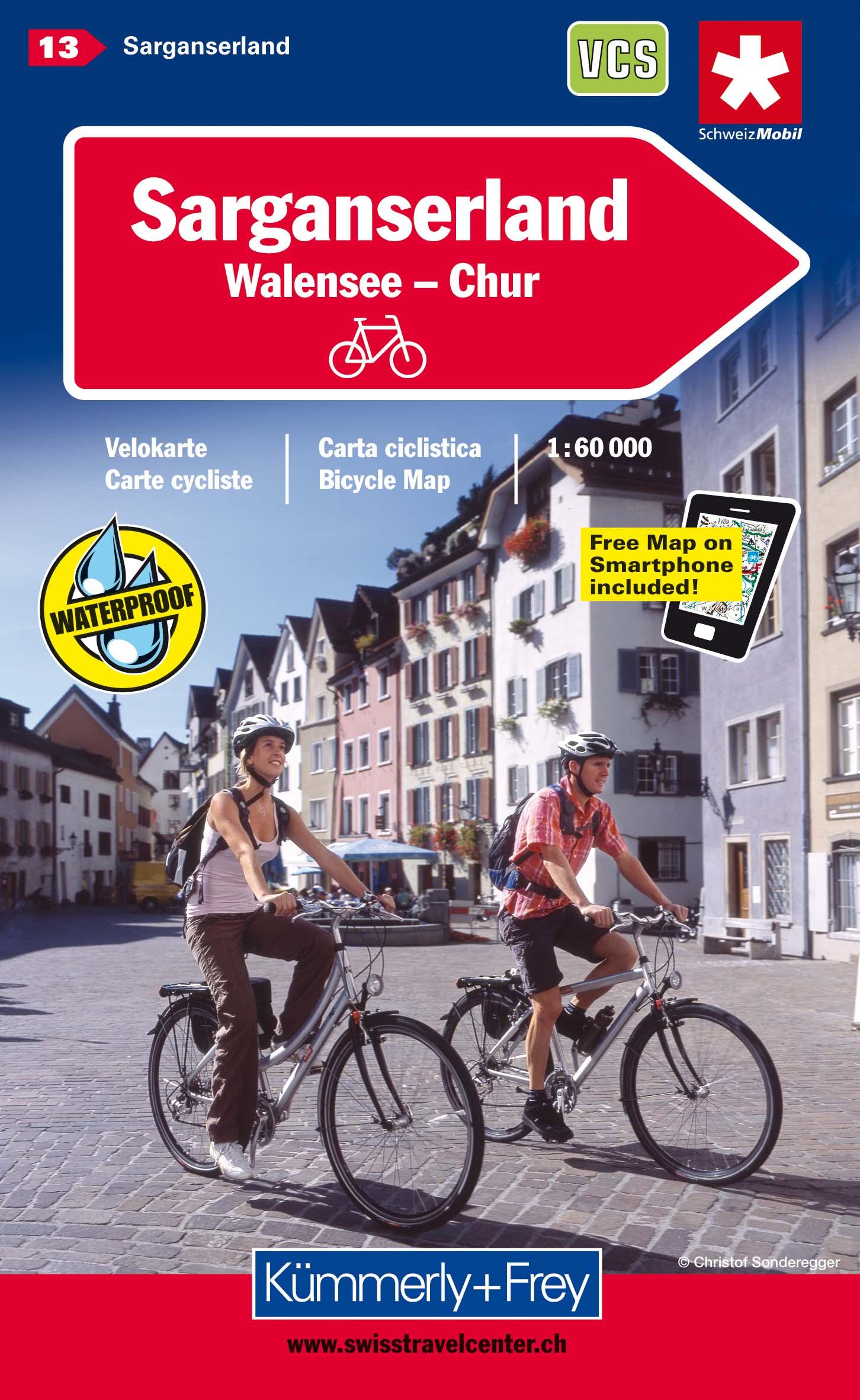KuF Schweiz Radkarte 13 Sarganserland - Walensee - Chur