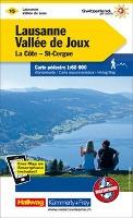KuF Schweiz Wanderkarte 15 Lausanne - Vallée de Joux