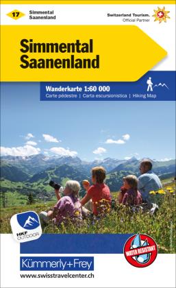 KuF Schweiz Wanderkarte 17 Simmental - Saanenland 1:60 000