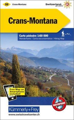 KuF Schweiz Wanderkarte 32 Crans-Montana