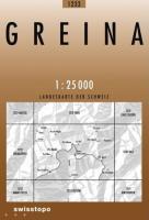 Swisstopo 1 : 25 000 Greina
