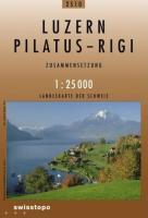 Swisstopo 1 : 25 000 Luzern - Pilatus - Rigi
