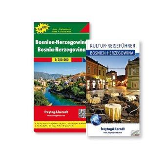 Bosnien-Herzegowina Set, Kulturführer + Autokarte 1:200.000