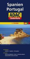 ADAC LänderKarte Spanien, Portugal 1 : 750 000