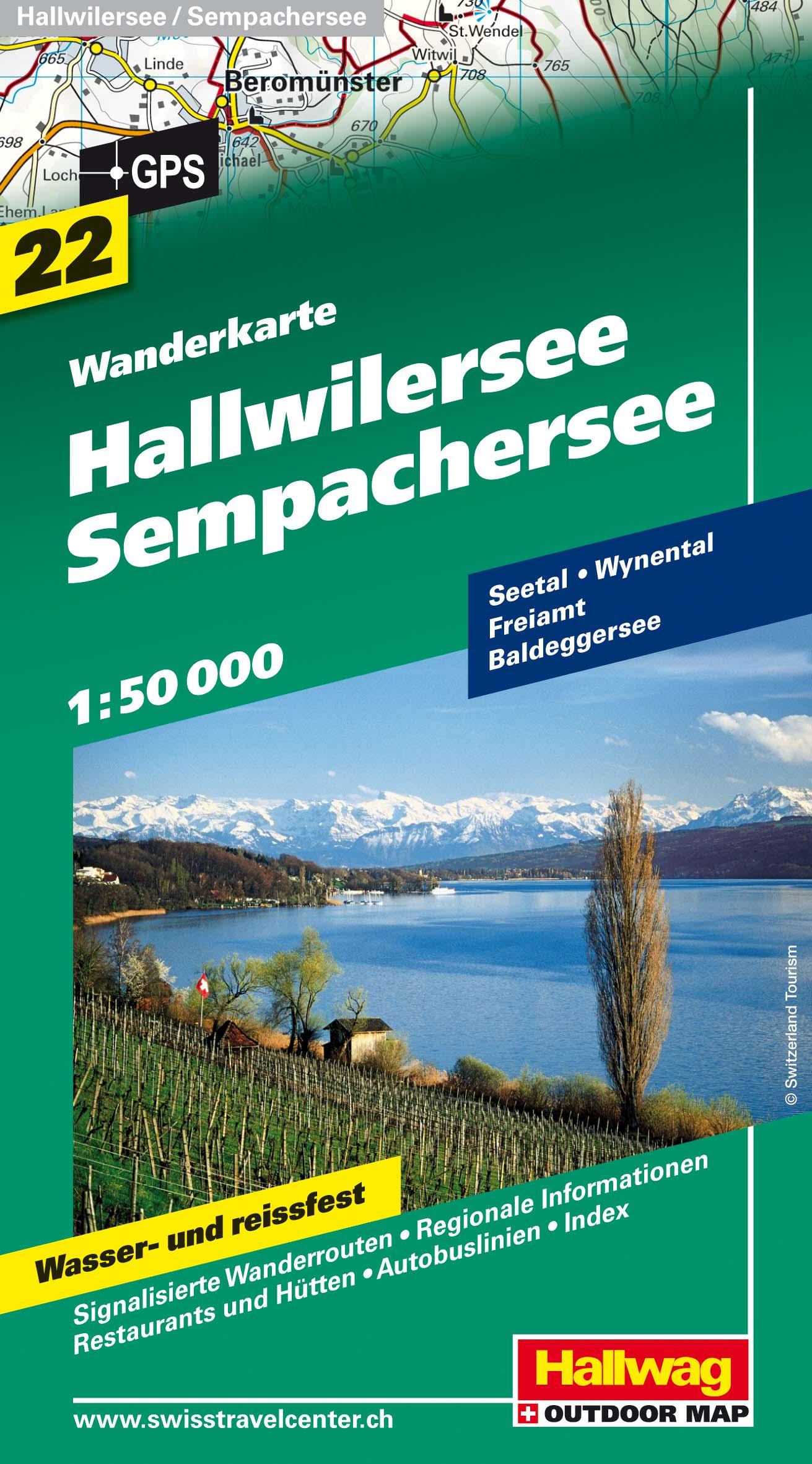 Hallwilersee-Sempachersee 1 : 50.000