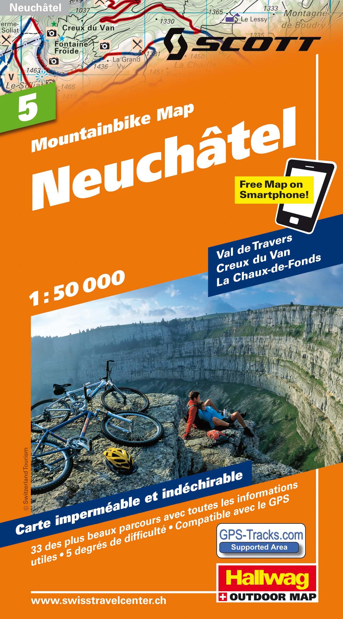 MTB-Karte 05 Neuchâtel 1:50.000