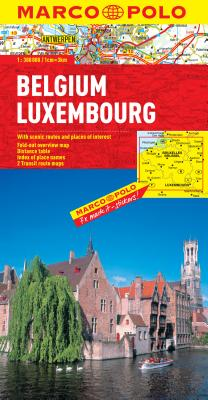 Belgium and Luxembourg Marco Polo Map