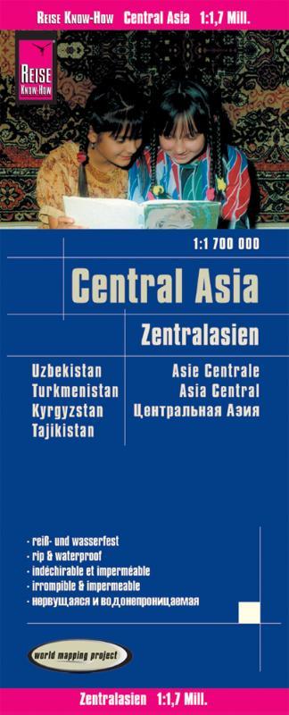 Reise Know-How Landkarte Zentralasien (1:1.700.000) : Usbekistan, Kirgisistan, Turkmenistan und Tadschikistan