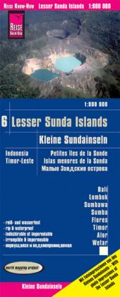 Reise Know-How Landkarte Kleine Sundainseln / Lesser Sunda Islands (1:800.000) - Bali, Lombok, Sumbawa, Sumba, Flores, Timor, Alor, Wetar - Karte Indonesien 6