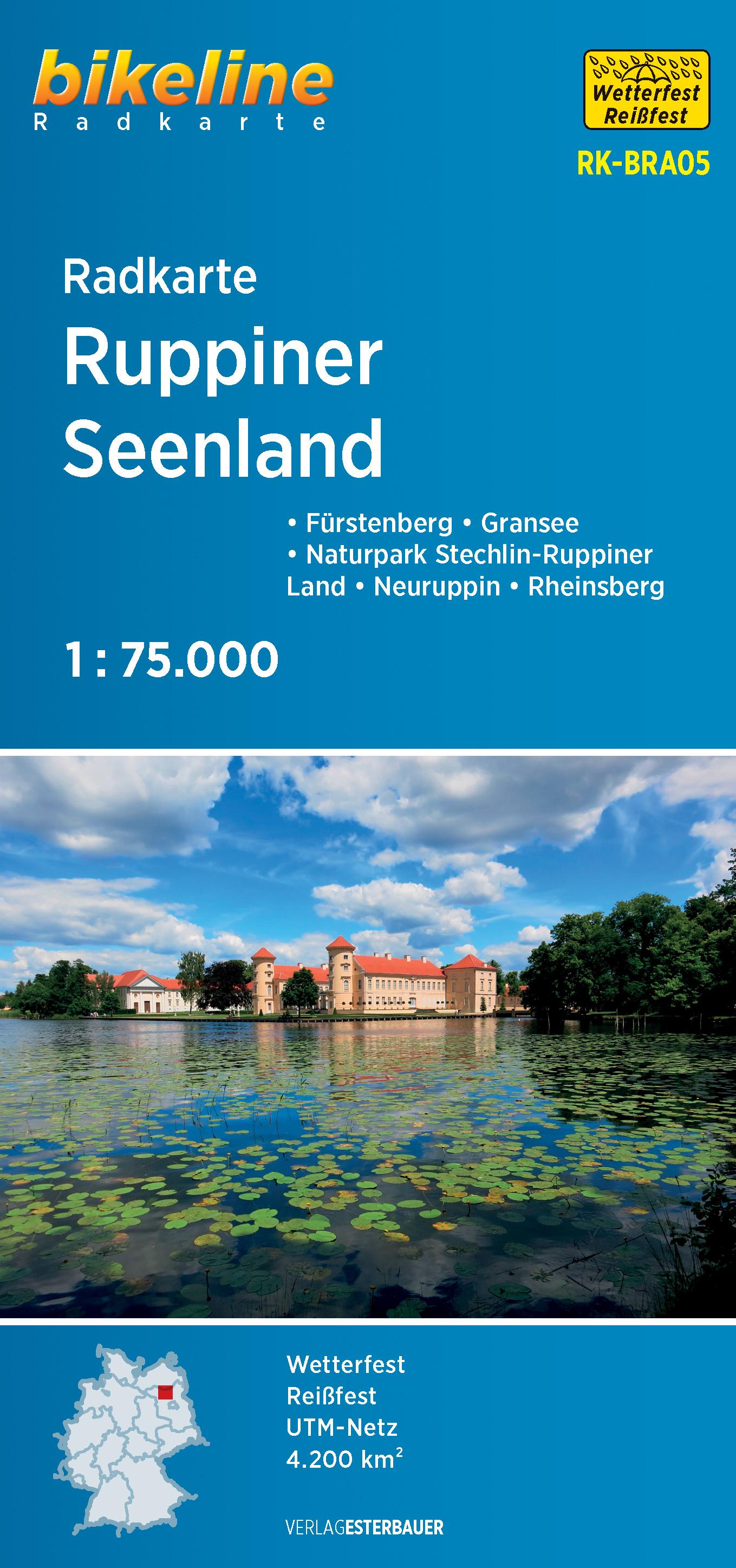 Ruppiner Seenland fietskaart