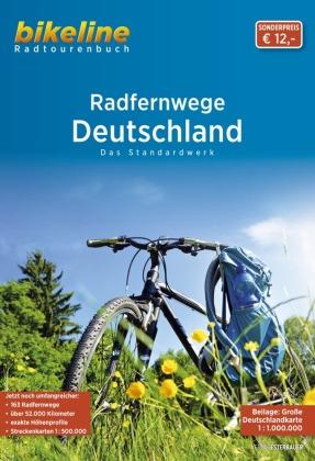 Deutschland RadFernWege Das Standardwerk + kaart