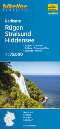 Rügen / Stralsund / Hiddensee fietskaart
