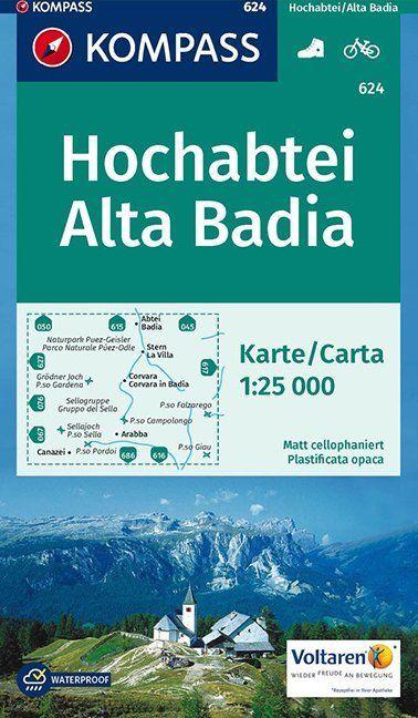 Kompass WK624 Hochabtei, Alta Badia
