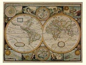 John Speed Antieke Wereldkaart - 1651