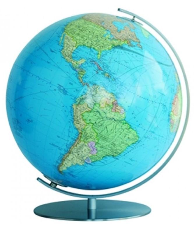 Duo Globe - Voet en mederiaan van edelstaal