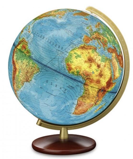 Duplex Globe - massief houten voet