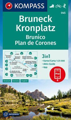 Bruneck, Kronplatz Brunico Plan de Corones 1:25 000