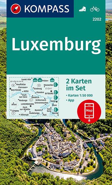 KOMPASS Wanderkarte Luxemburg 1:50 000