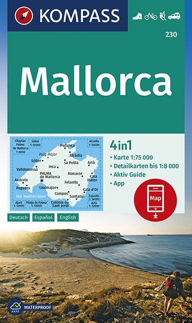 KOMPASS Wanderkarte Mallorca 1:75 000