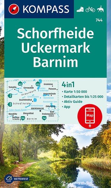 KOMPASS Wanderkarte 744 Schorfheide, Uckermark, Barnim