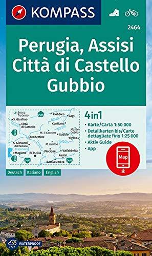 KOMPASS Wanderkarte 2464 Perugia, Assisi