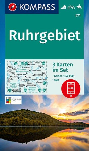 KOMPASS Wanderkarte 821 Ruhrgebiet