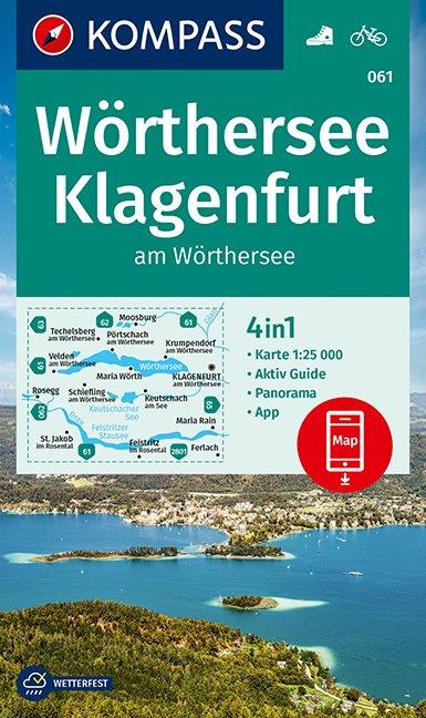 KOMPASS Wanderkarte 061 Wörthersee, Klagenfurt
